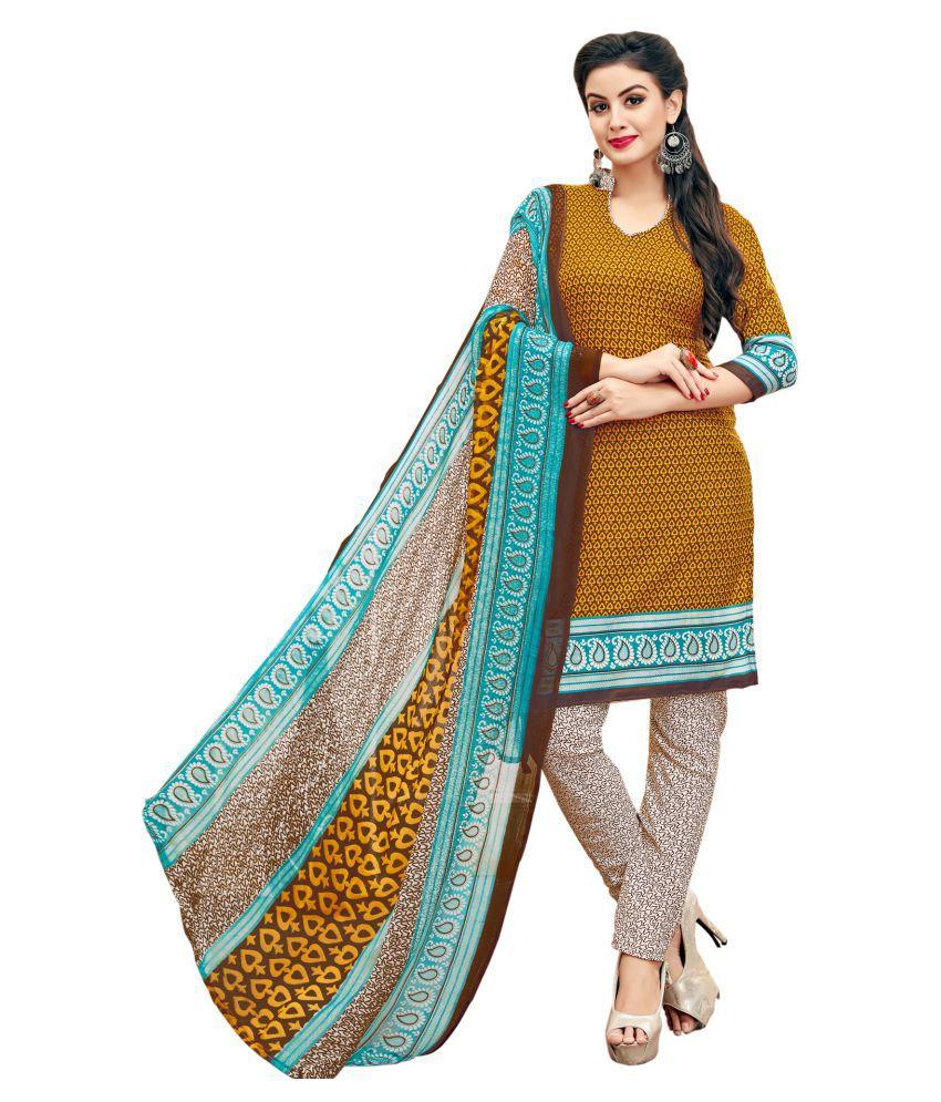 FASHION CARE Multicoloured Cotton Dress Material