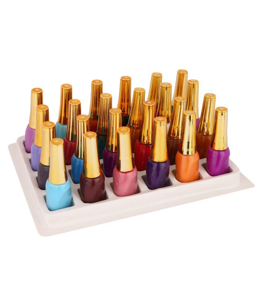 Nevlon Set of 24 Nail Polish Multi-Color Glossy 240 ml