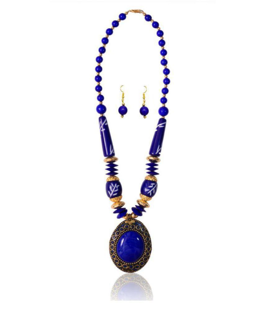 Renaissance Traders Dazzling Royal Blue Princess Style Awesome Look Trendy Necklace