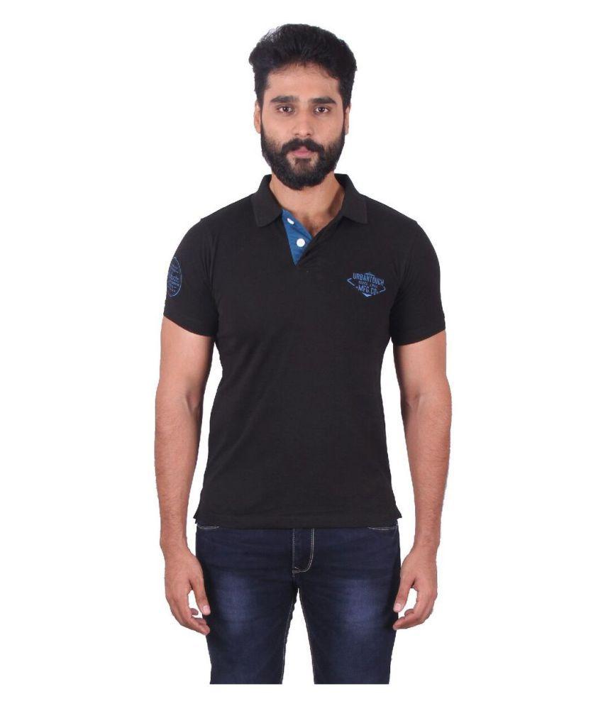 urbantouch Black Round T-Shirt