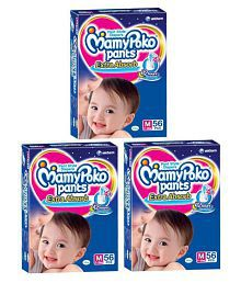 Mamypoko Medium Size Baby Diapers (56 Count) Pack Of 3