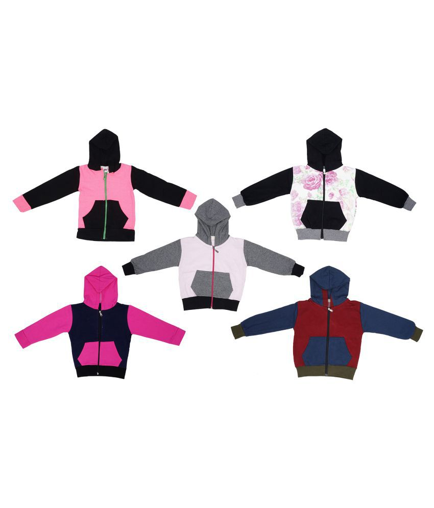 Indirang pack of 5 multicolored jackets for girls