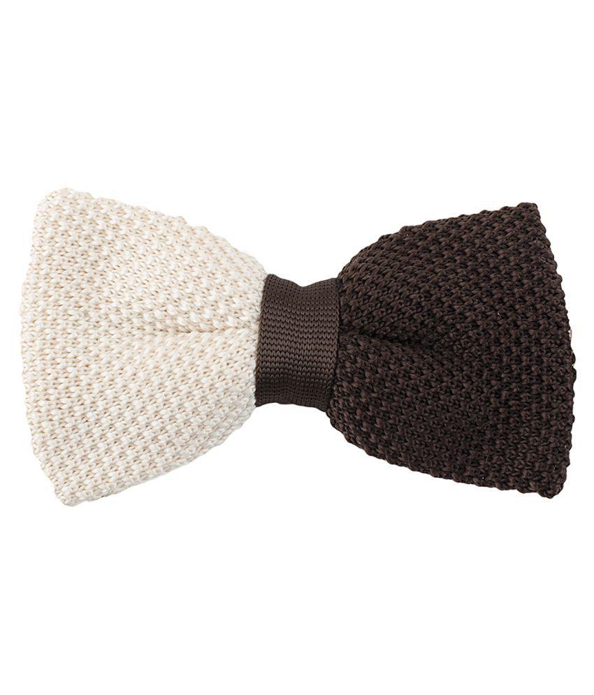 Tossido Beige Plain Polyester Necktie