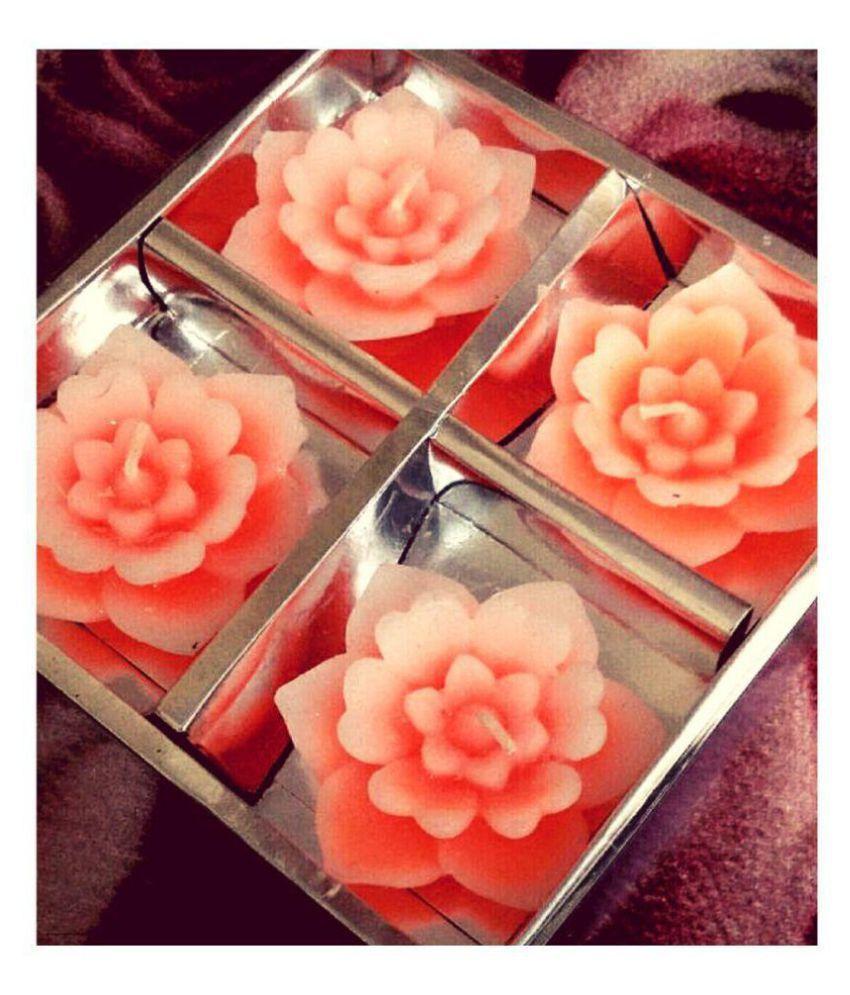 Churo Orange Floating Candle - Pack of 4