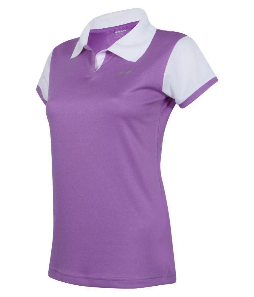 Nivia Polyester Purple Polos-2218XL3
