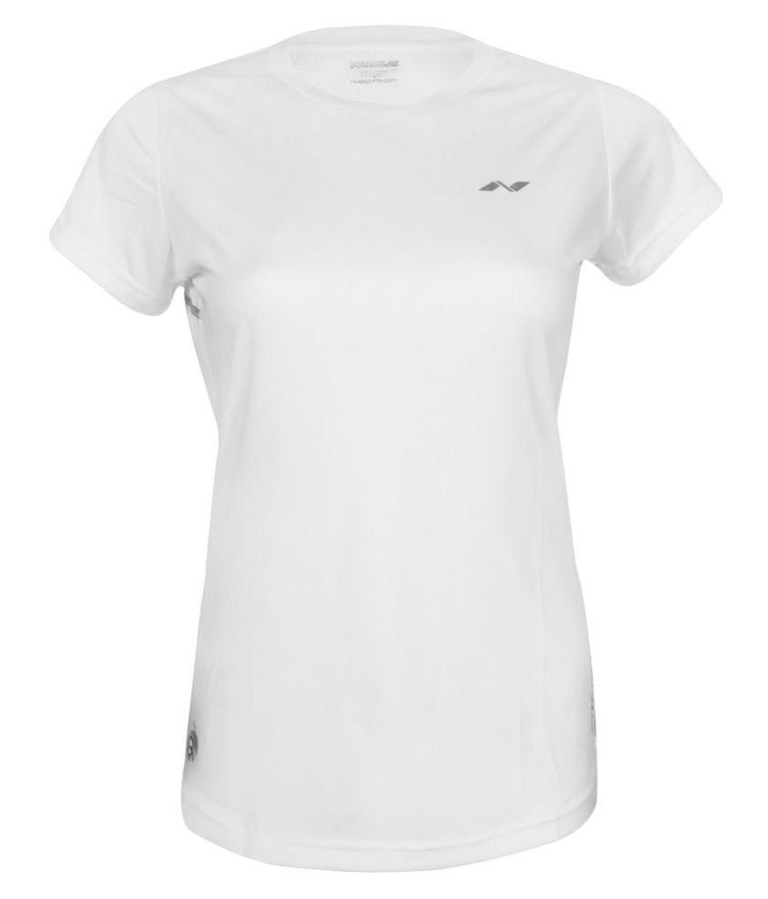 Nivia Polyester White T-Shirts