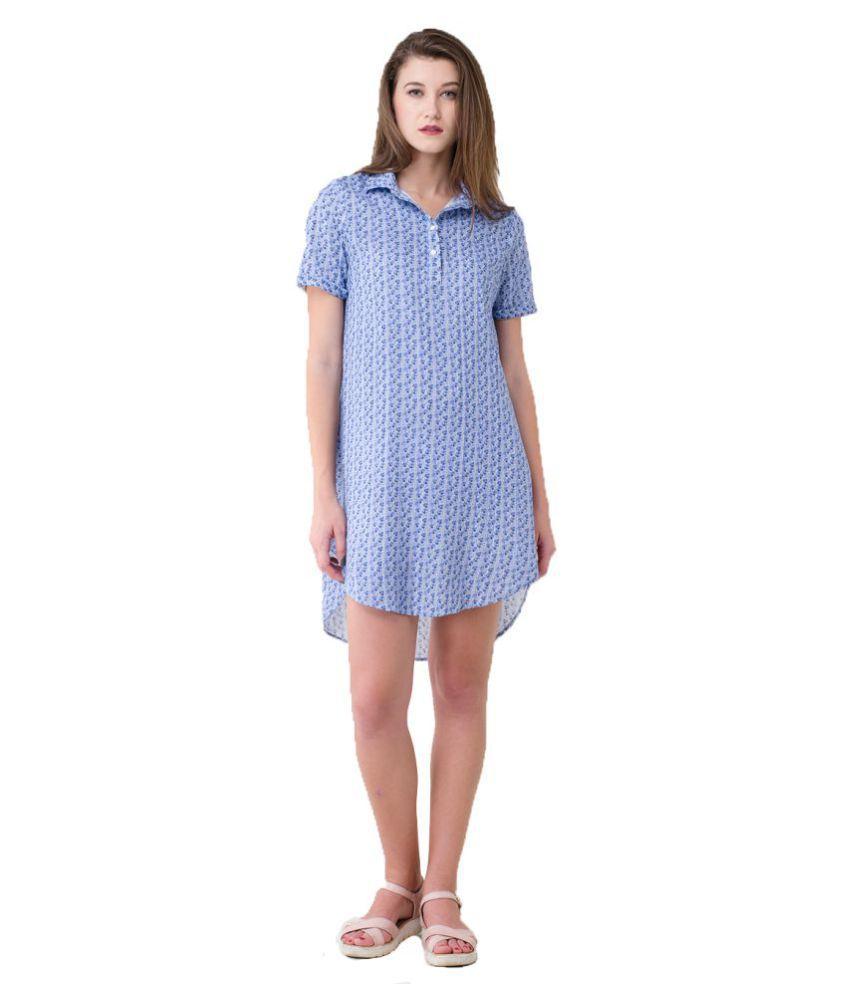 bahrupiya clothing Cotton White Shirt Dress