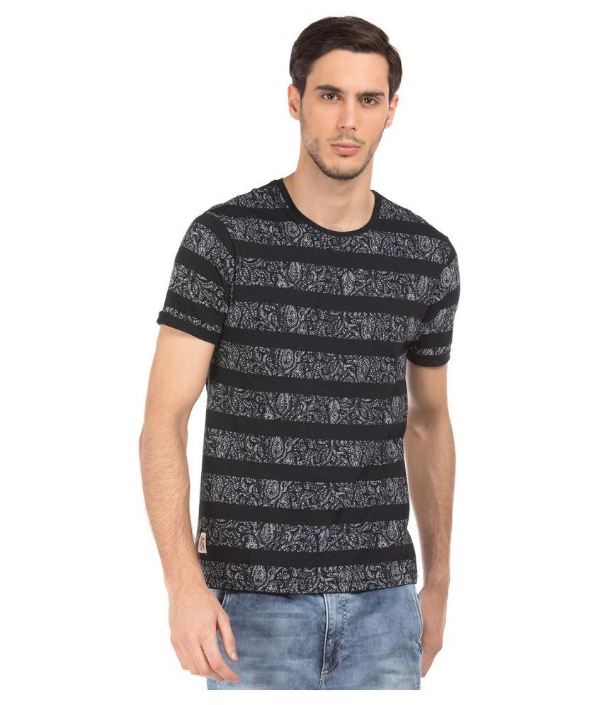 Ed Hardy Black Henley T-Shirt