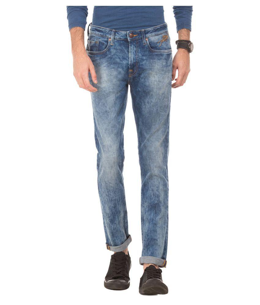 Ed Hardy Blue Regular Fit Jeans