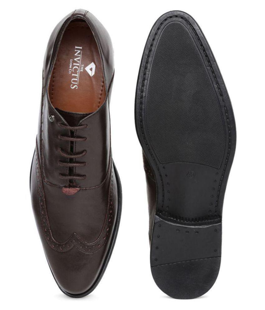 Invictus Brogue Brown Formal Shoes