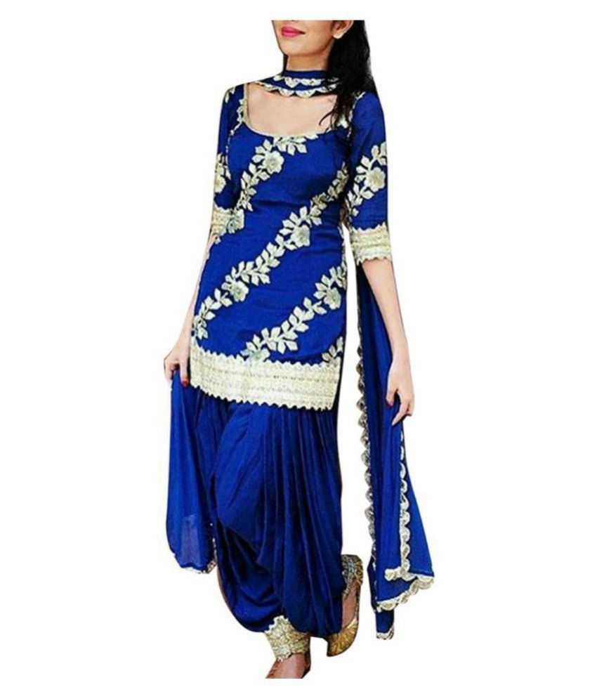 2f8a355dc0 Royal Blue Patiala Salwar Suit For Girls Free Size (Unstitched) - Buy Royal Blue  Patiala Salwar Suit For Girls Free Size (Unstitched) Online at Low Price -  ...