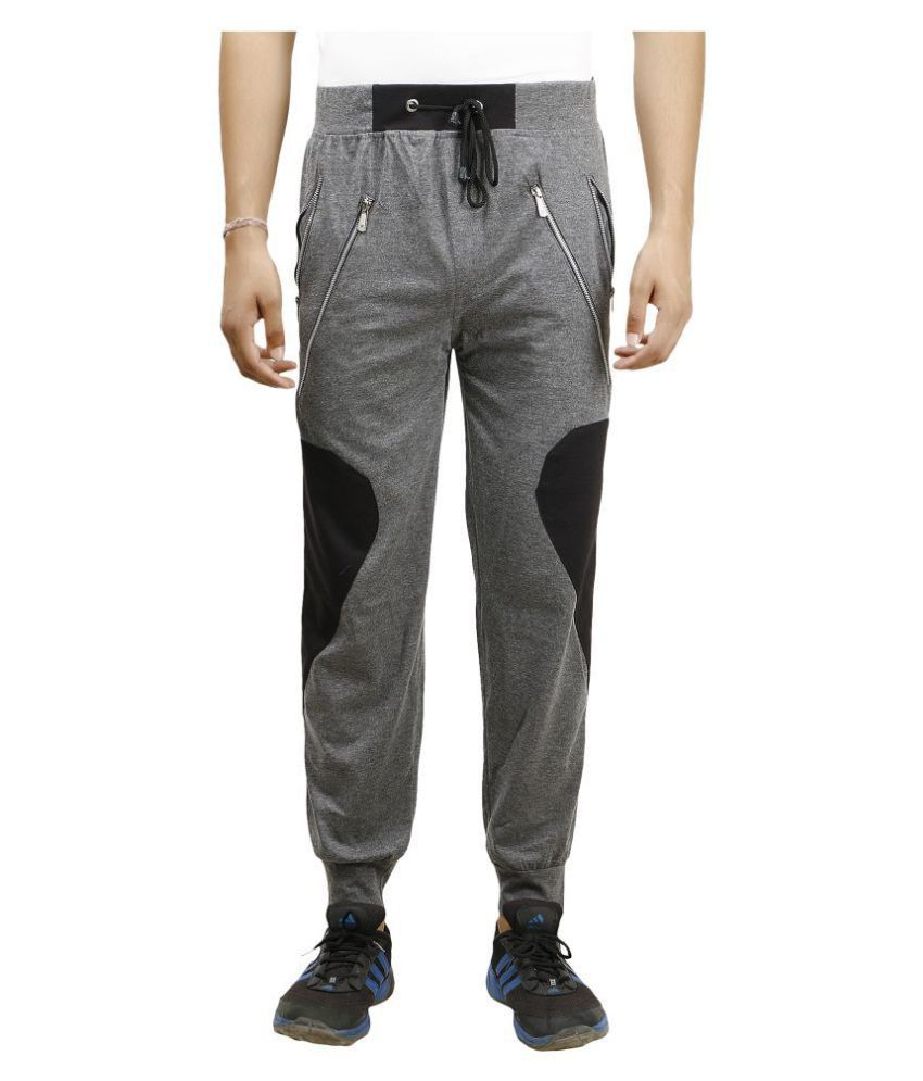 Zcell Grey Slim -Fit Flat Joggers
