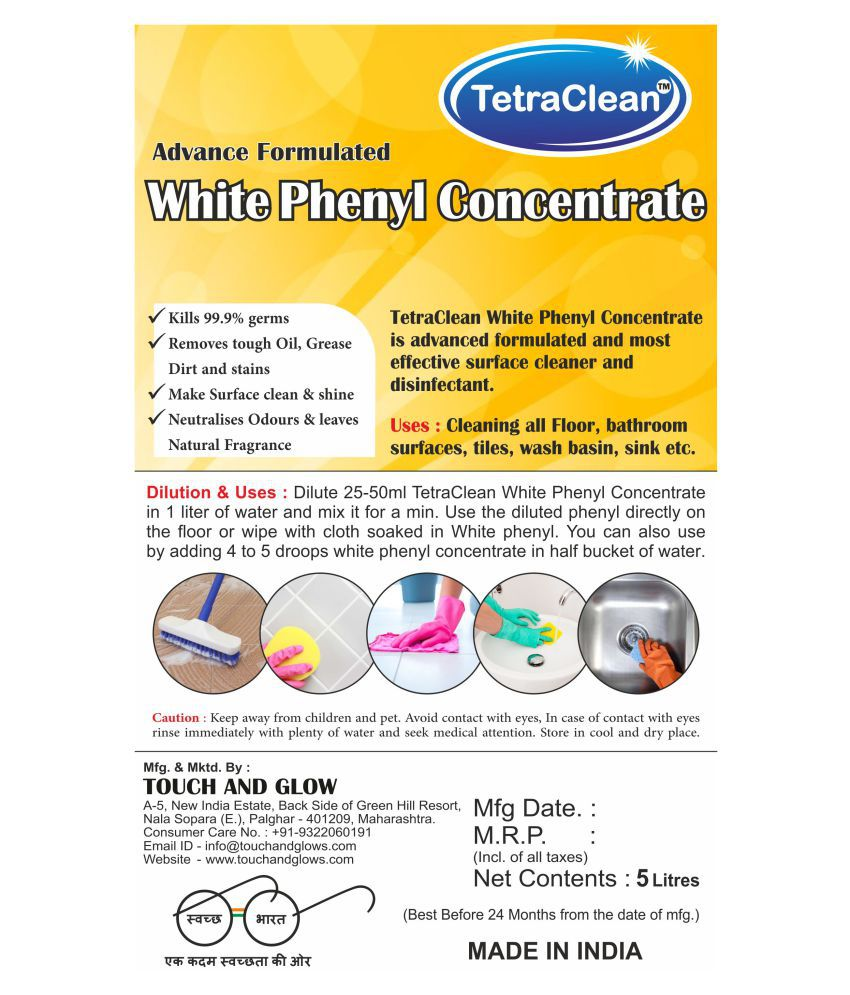 TetraClean Camphor Based Concentrate Disinfectant Floor