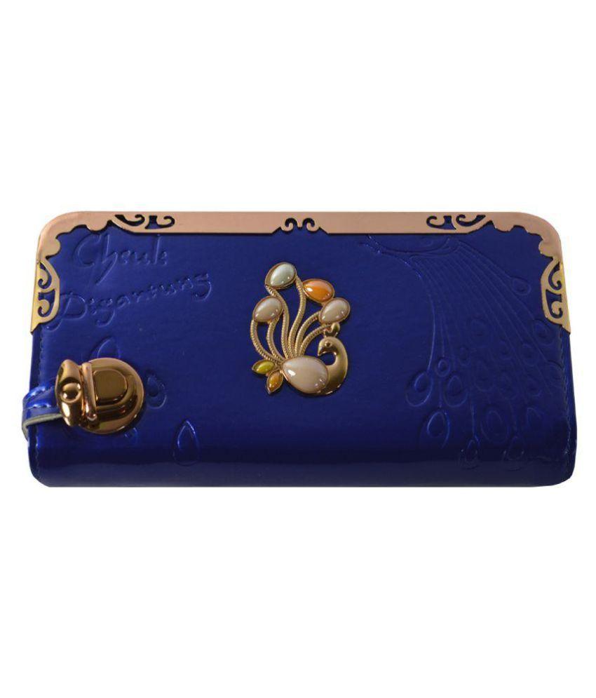 Glitters Online Blue Wallet
