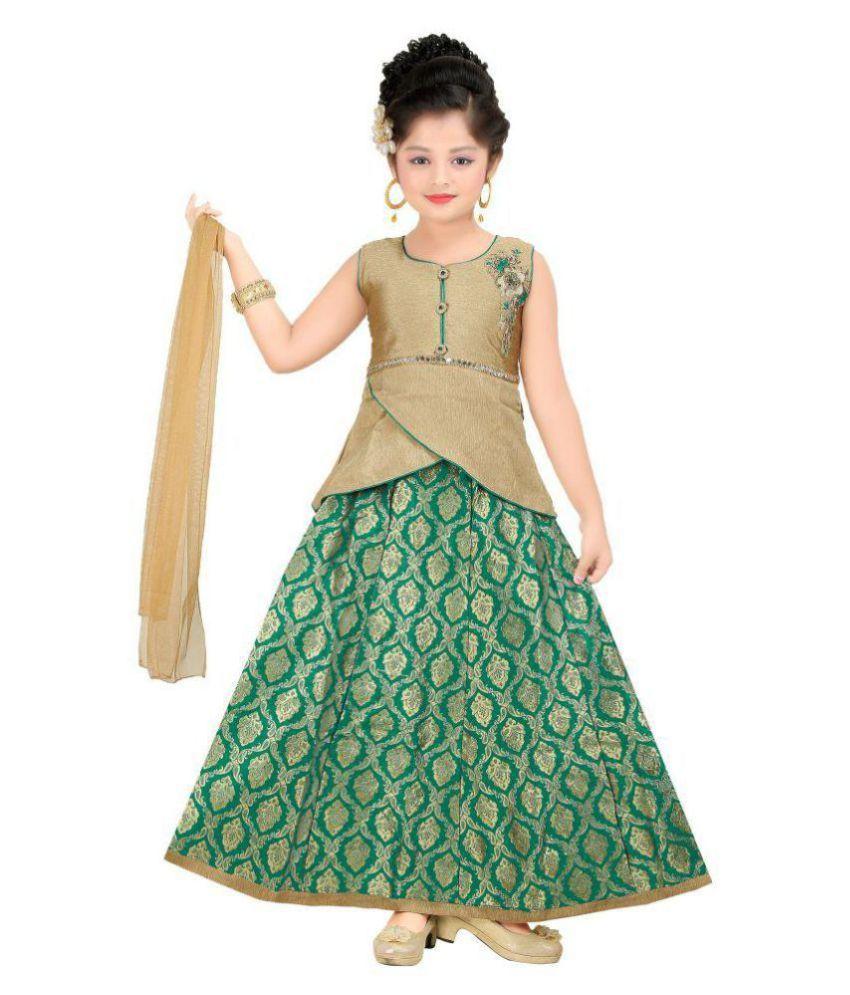 4c10c2121b4242 ... Trendy Girls Functional Wear Crop Top Lehenga Choli Buy Trendy