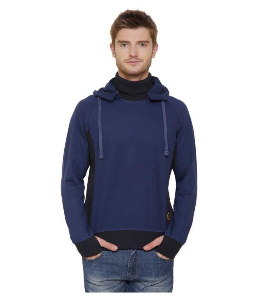 Maggivox Navy 100 Percent Cotton Fleece Sweatshirt