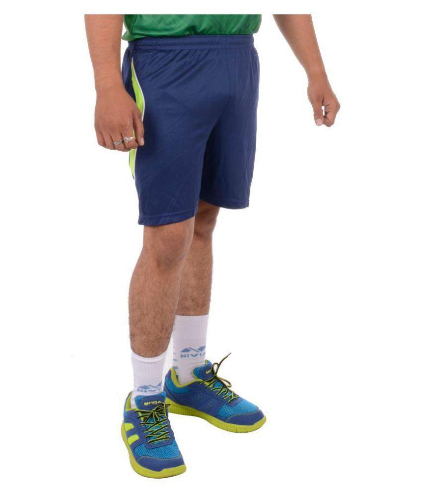 Nivia Navy Polyester Fitness Shorts