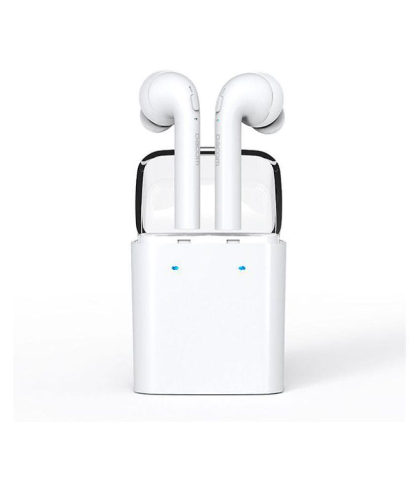 b61f7329de3 OVER TECH iphone 7s Bluetooth Headset - White - Bluetooth Headsets Online  at Low Prices | Snapdeal India