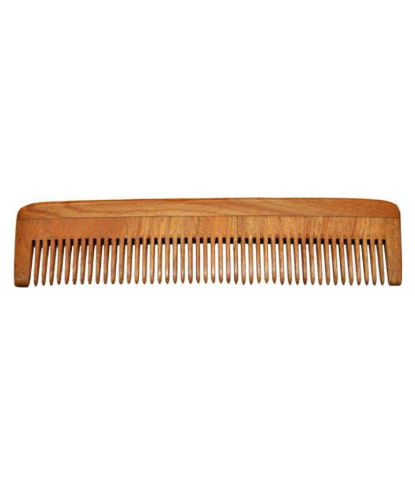 Majik World wooden hair comb for long hair Wide tooth Comb