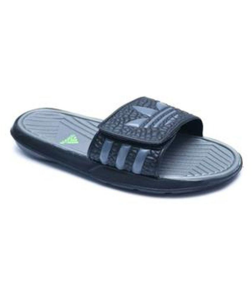 9ee93dd2f761 Adidas MEN S NEW SLIPPERS Black Slide Flip flop Price in India- Buy Adidas  MEN S NEW SLIPPERS Black Slide Flip flop Online at Snapdeal