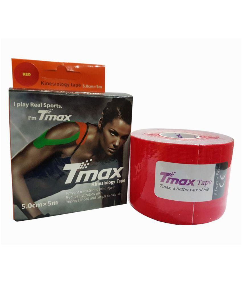 SOS Tmax Kinesiology Tape (Color may very) Pack of 6