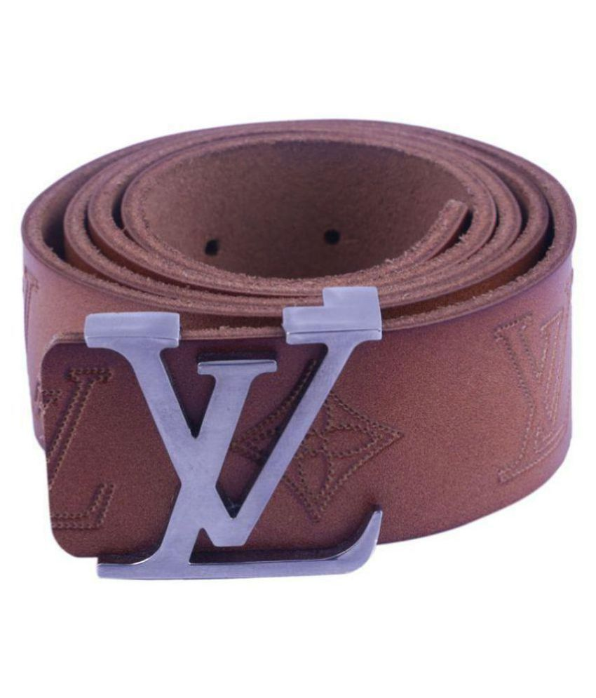 Visach Brown Leather Casual Belts