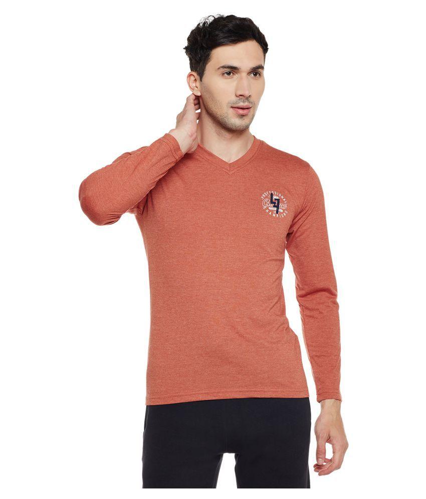Neva Orange V-Neck T-Shirt