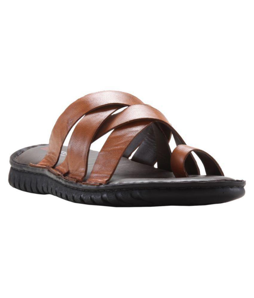 69e137a7d369 Franco Leone 162306 Tan Daily Slippers Price in India- Buy Franco ...