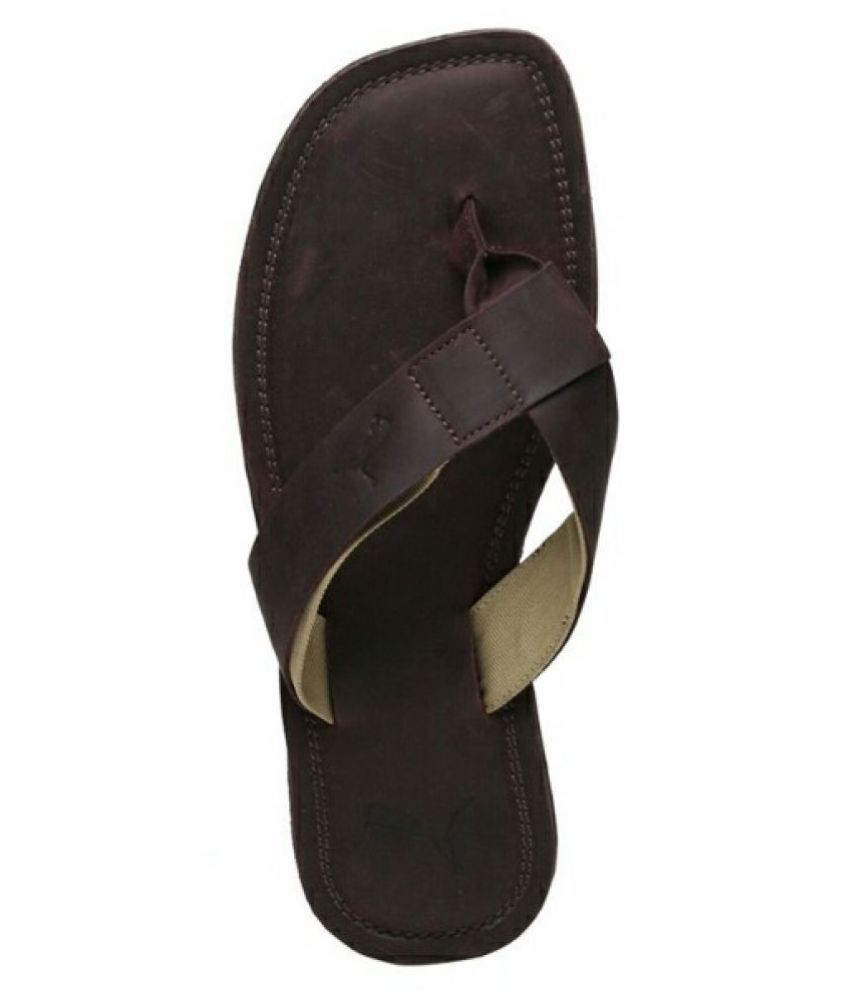 6290f98c3273 Puma Paramount IDP Brown Leather Slippers Price in India- Buy Puma Paramount  IDP Brown Leather Slippers Online at Snapdeal
