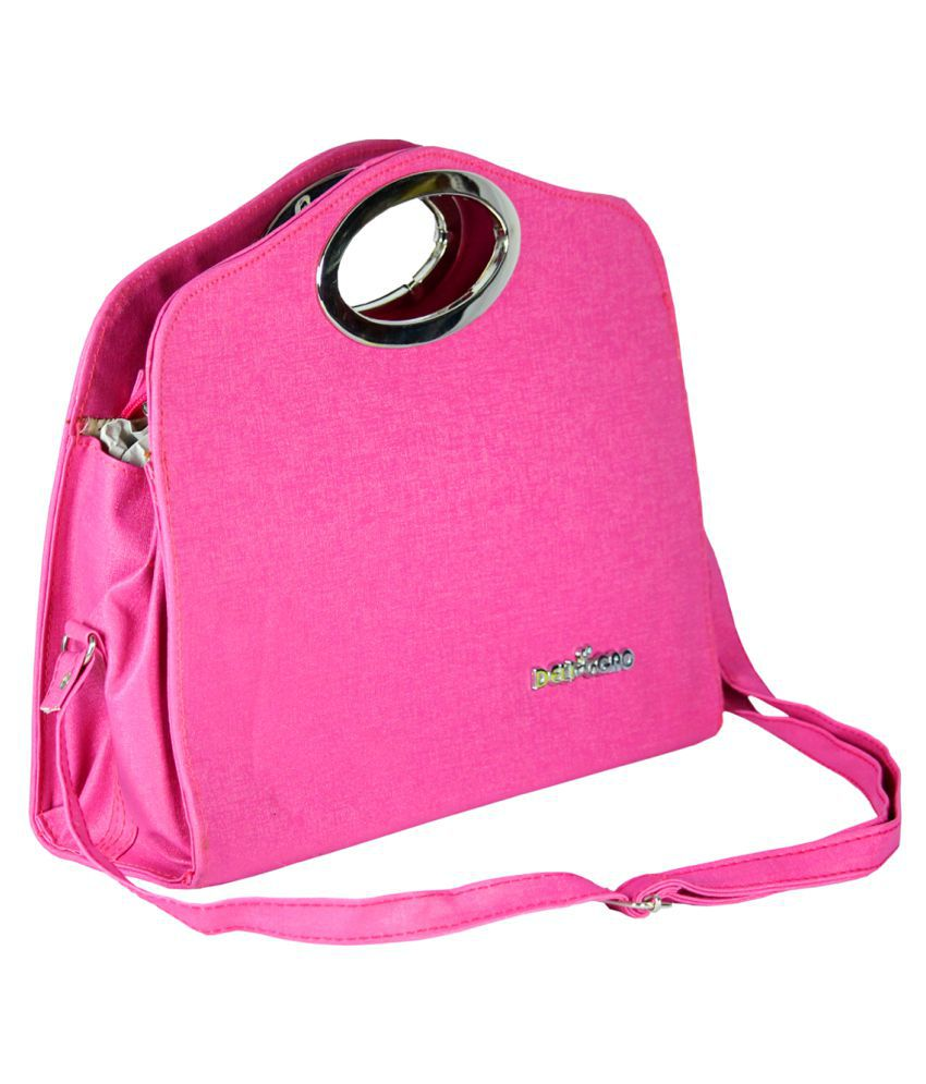 SPERO Baby Pink Artificial Leather Handheld