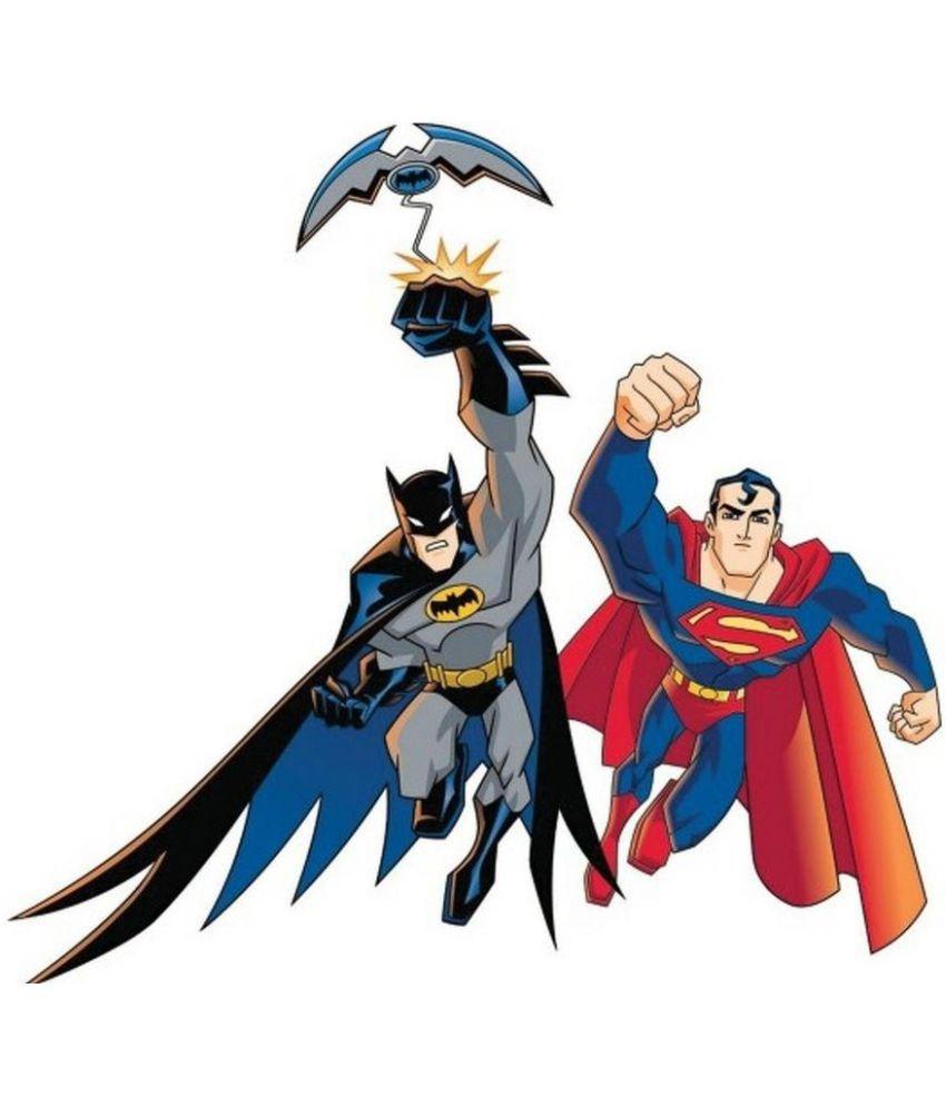 MAHALAXMI ART & CRAFT Batman And Superman Canvas Wall Poster Without ...