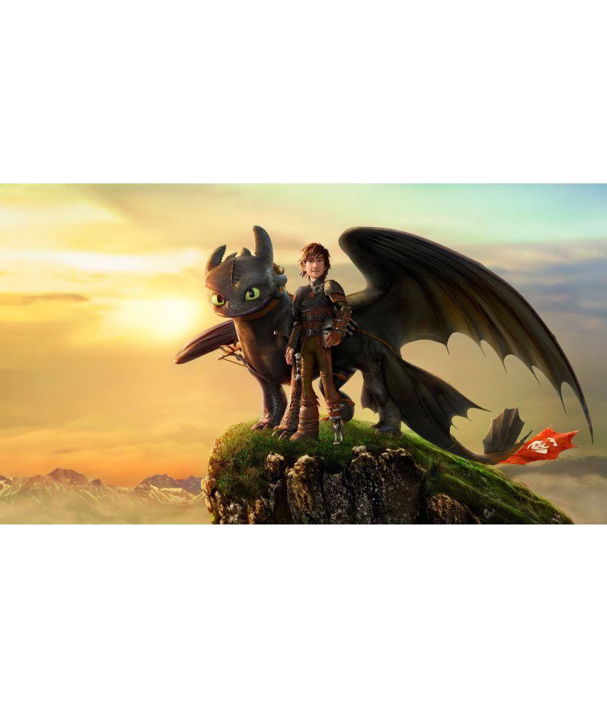 MAHALAXMI ART & CRAFT How To Train Your Dragon Canvas Wall Poster ...