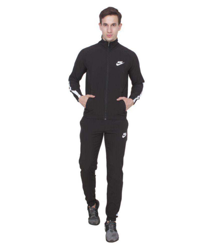 Nike Black Polyester Lycra Tracksuit ...