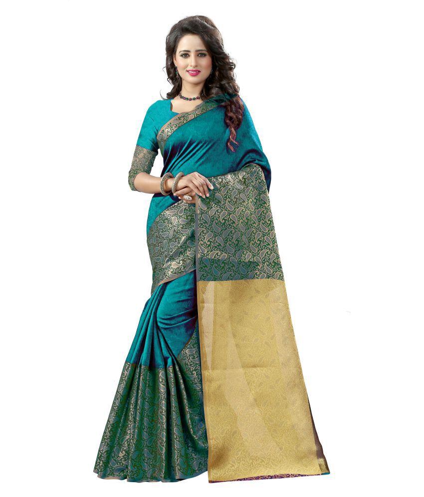 bc59c0712d7cd6 Rashmi Sarees Turquoise Banarasi Silk Saree - Buy Rashmi Sarees Turquoise  Banarasi Silk Saree Online at Low Price - Snapdeal.com