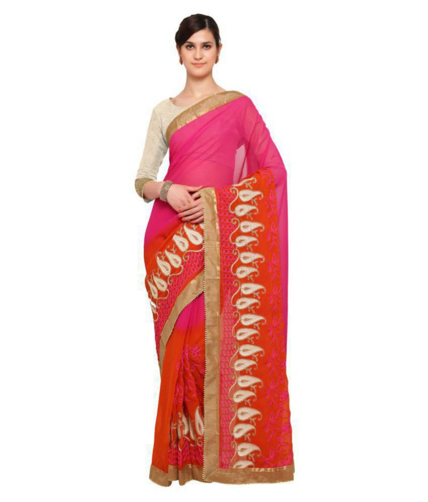 Sarvagny Clothing Multicoloured Georgette Saree