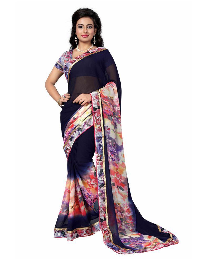 VastraParidhan Multicoloured Georgette Saree