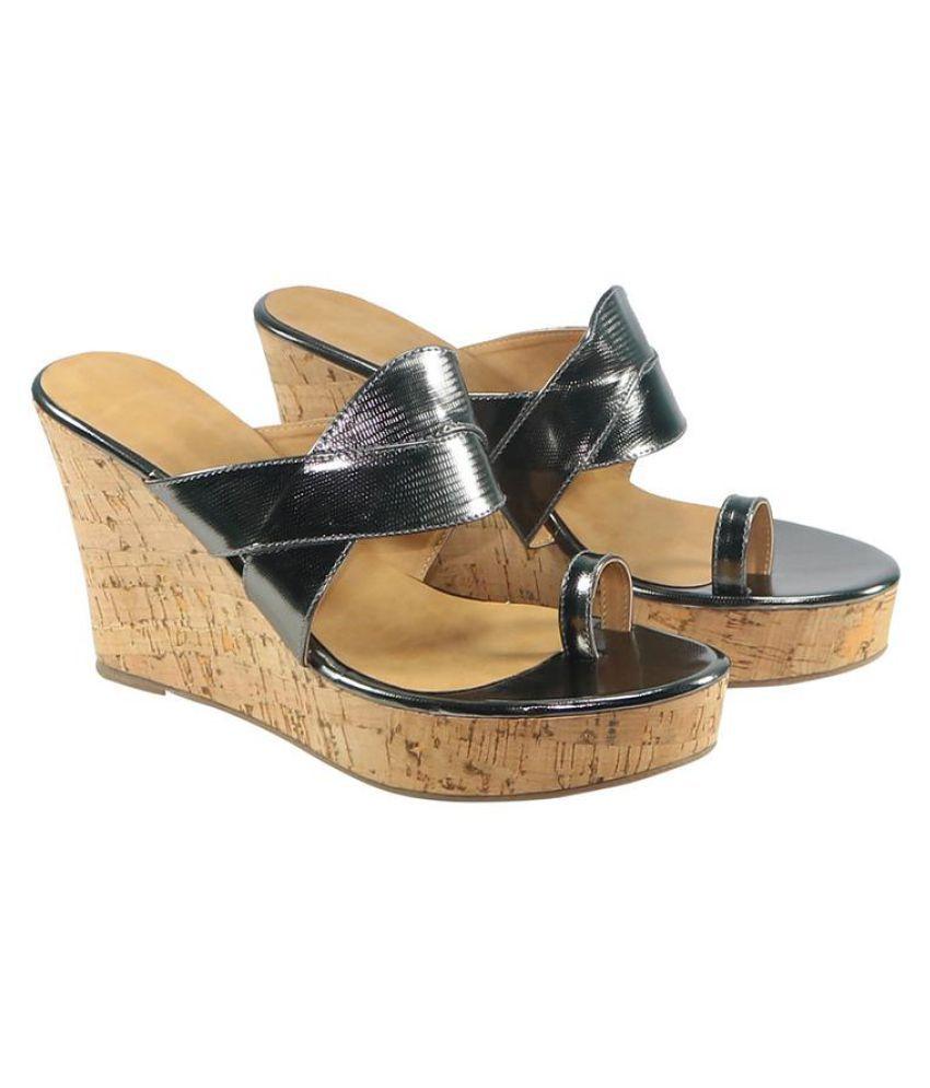 Habit Gray Wedges Heels