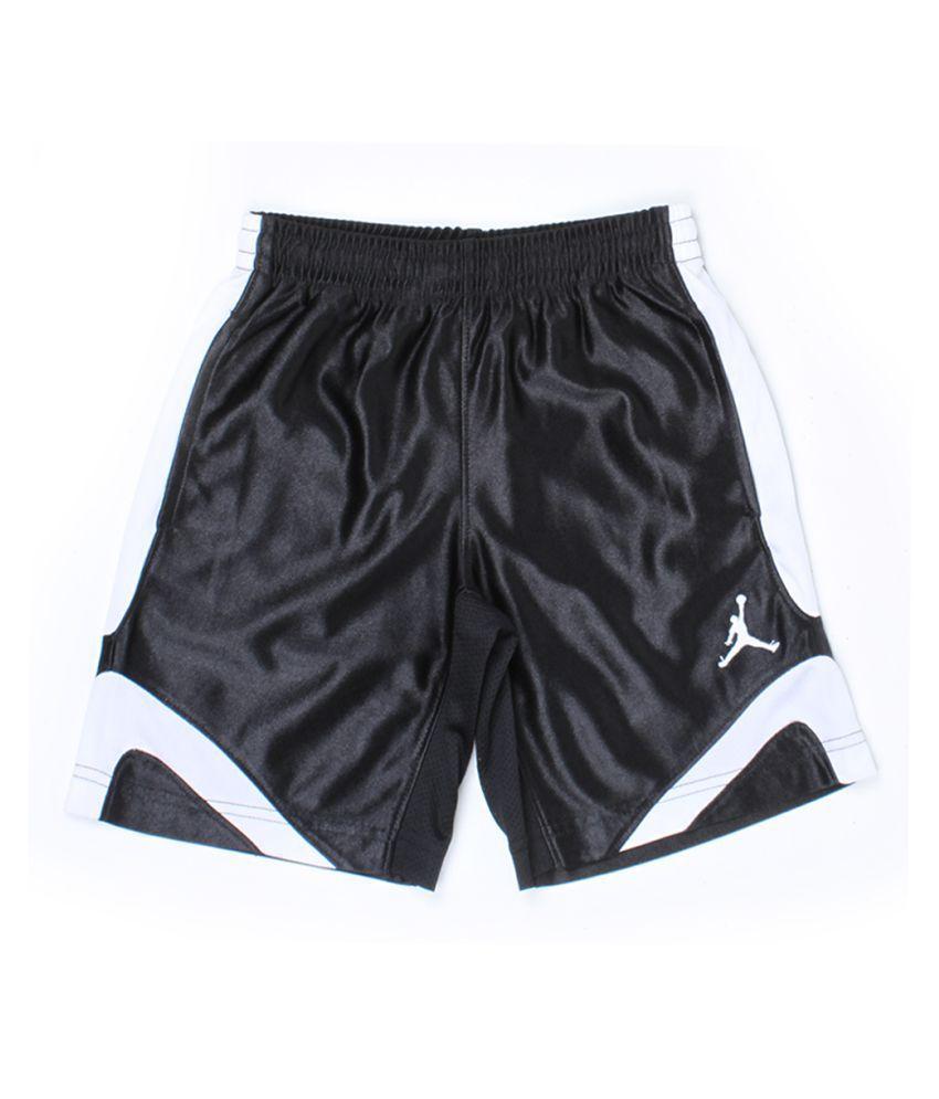 Jordan Boys Black Solid Shorts