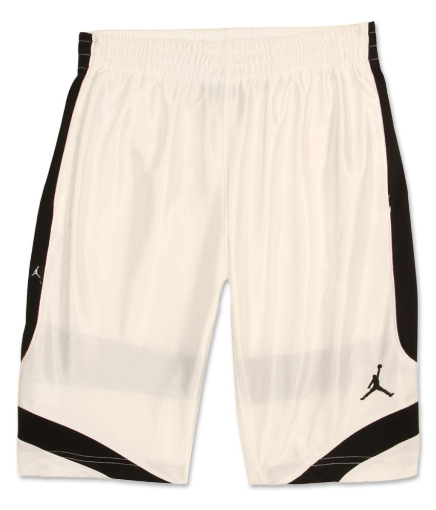 Jordan Boys White Solid Shorts