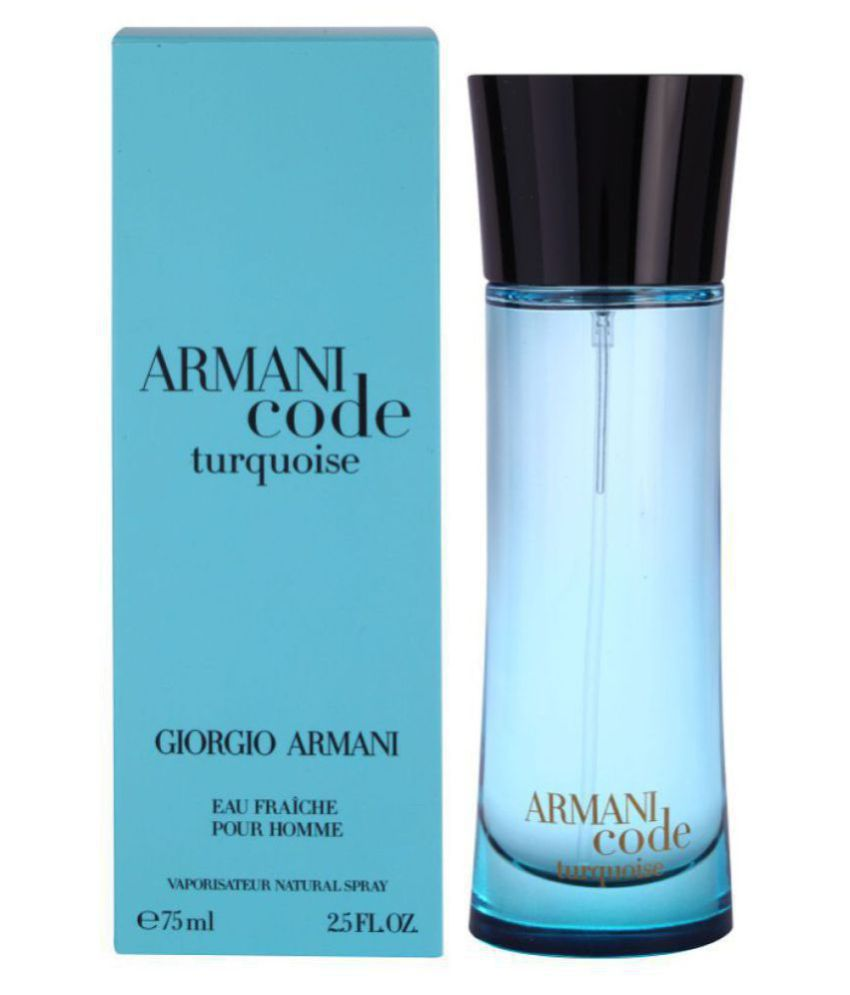 Armani Giorgio Code Turquoise Perfume Mens 75 Ml Buy Online At Best