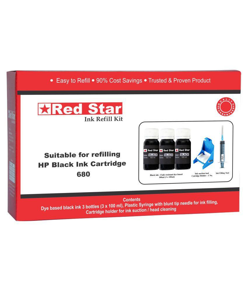 Red Star Ink Refill Kit For Hp 680 Cartridge Black Single Buy