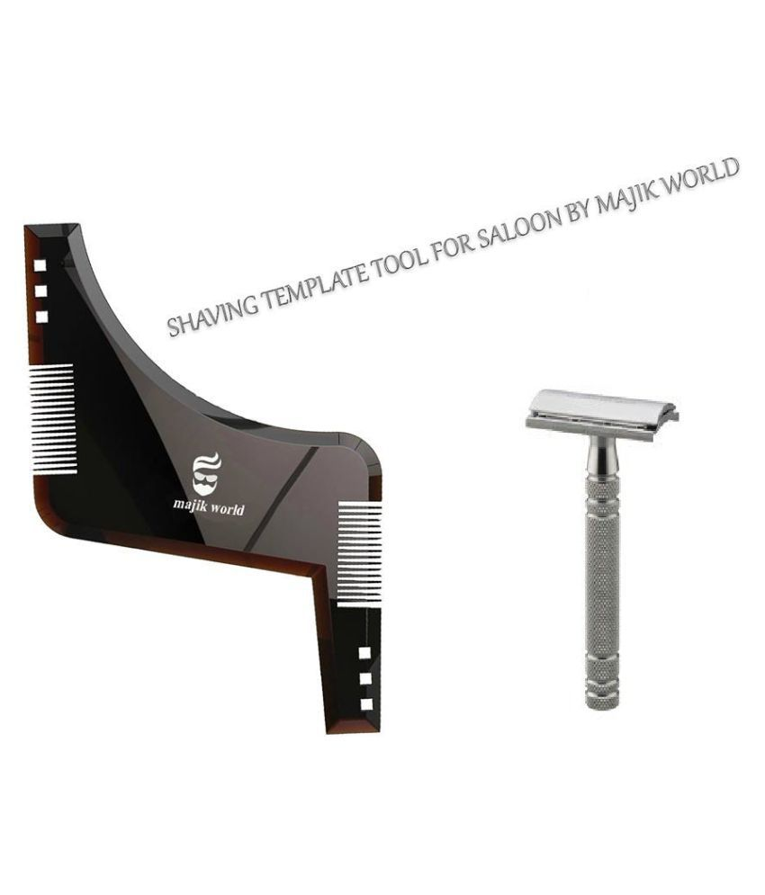 Majik World Beard Comb & Shaving Razor Wide tooth Comb