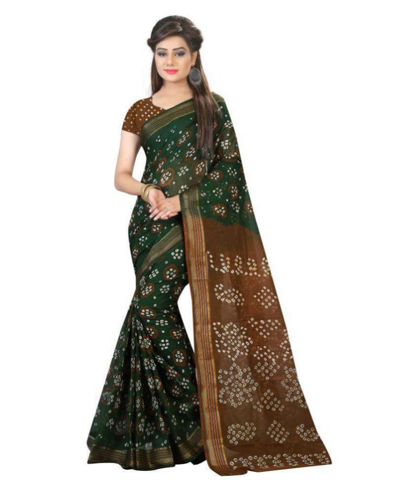 Dream Star Green Cotton Saree