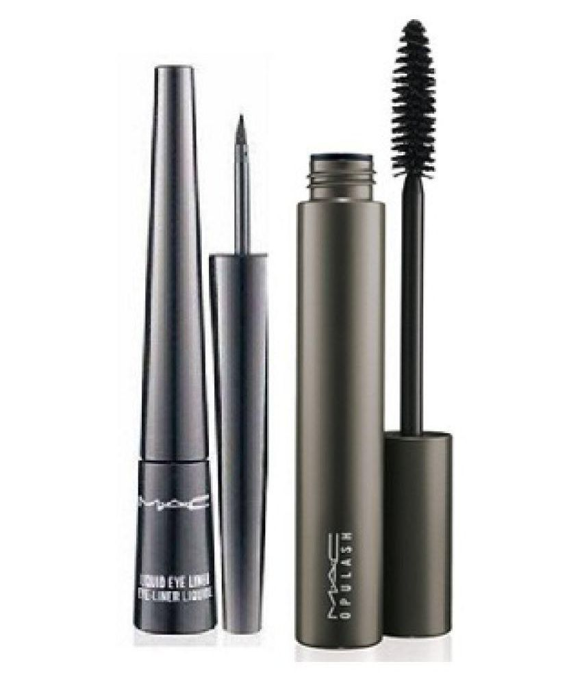 Mac Eyes Makeup Combo Of Eyeliner Mascara Set Of 2 10 Ml Buy Mac