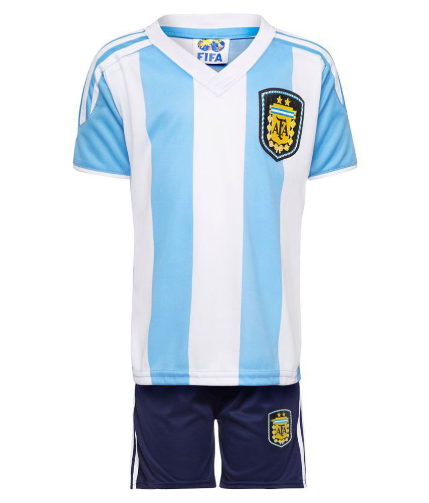 3574a41605fb Replica Unisex KIDS Argentina Football Jersey Set - Buy Replica Unisex KIDS  Argentina Football Jersey Set Online at Low Price - Snapdeal