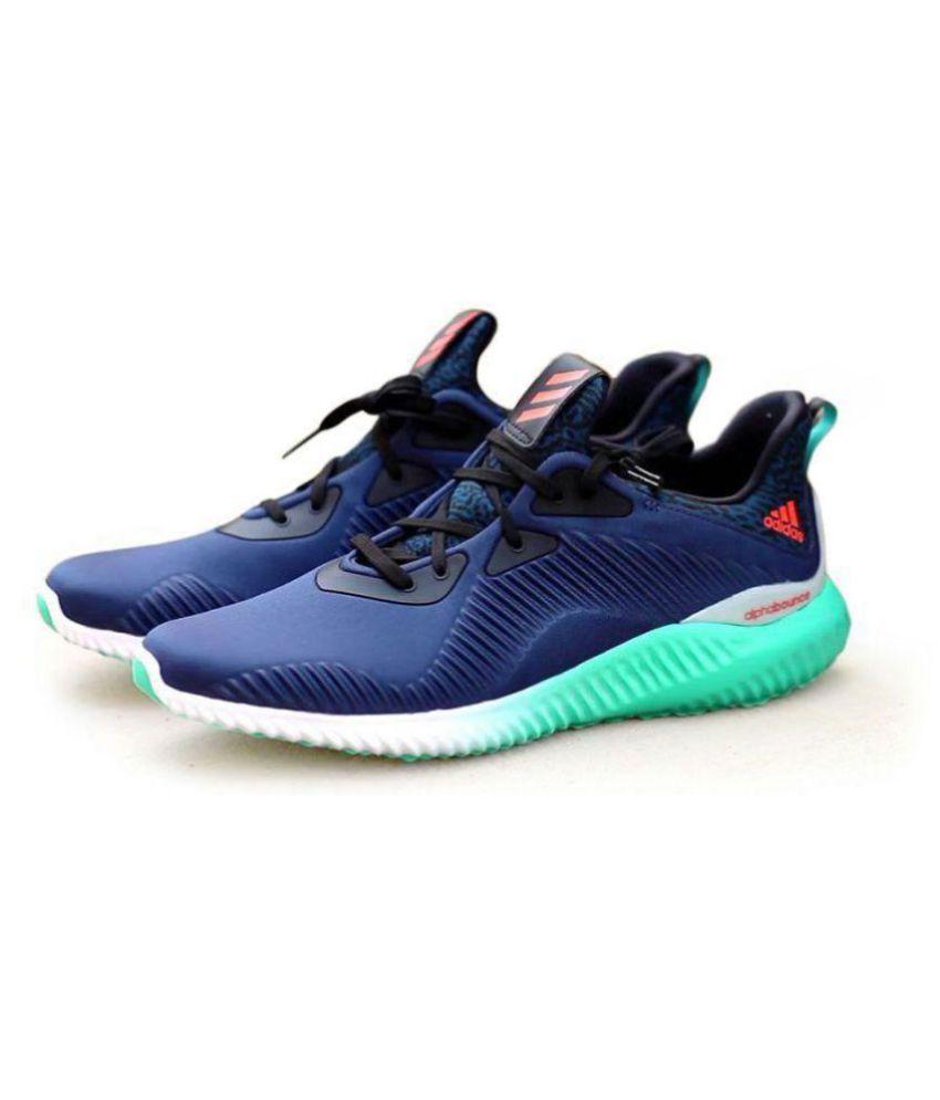Adidas Alpha Bounce Blue Running Shoes