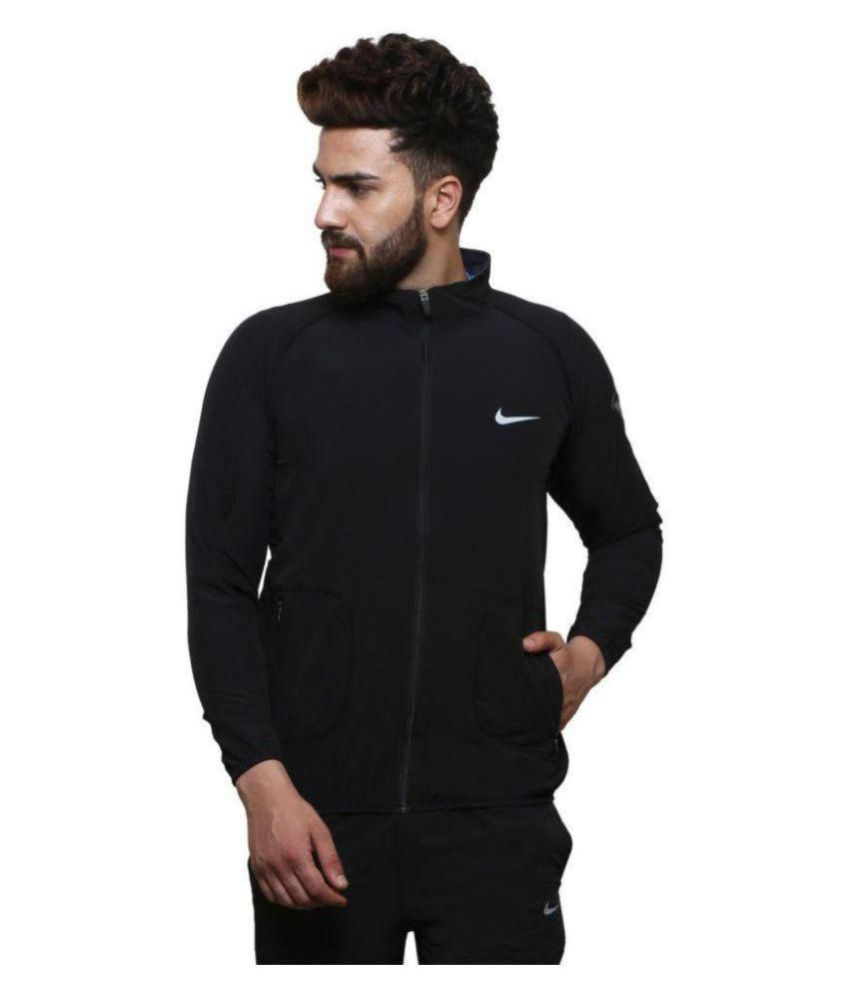 92d645725f51 Nike Black Polyester Terry Jacket - Buy Nike Black Polyester Terry Jacket  Online at Low Price in India - Snapdeal
