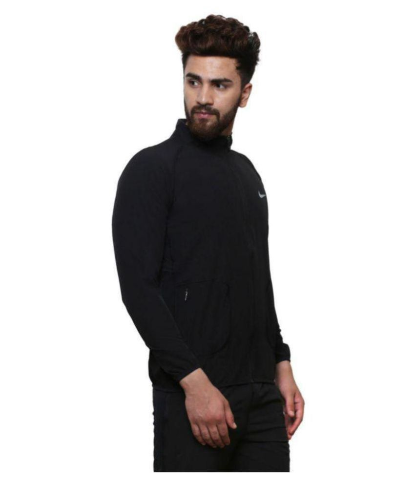c641b42513e8 Nike Black Polyester Terry Jacket Nike Black Polyester Terry Jacket ...