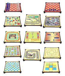 Aaryan Enterprise 13 In 1 Magnetic Family Board Game -Chess, Backgammon, Ludo, Tic-Tac-Toe, Checkers, 9 Men's Morris, Travel Bingo, Football, Space venture, Train chess, Racing Game, Steeplechase , Snakes & Ladders