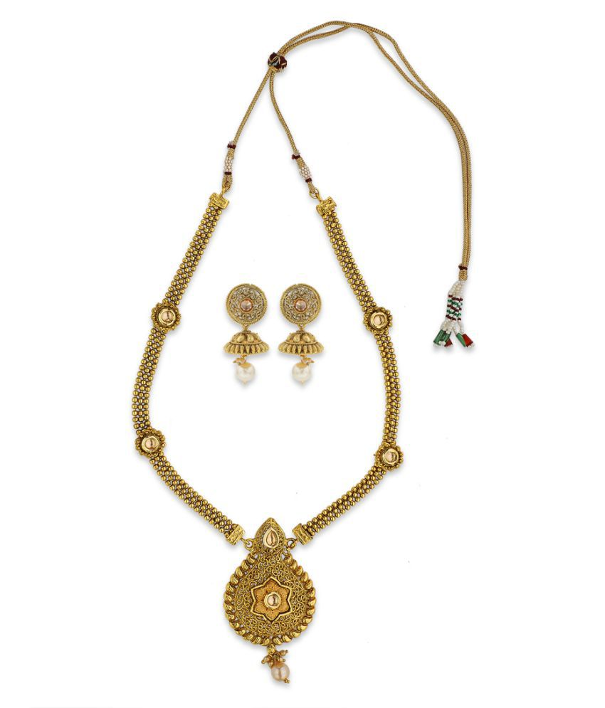 Copper Flora Gold Plated Necklace Set By Sapna FX-5004